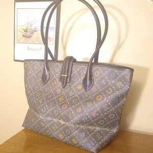 Dooney & Bourke Tote, Awesome Black & Rainbow